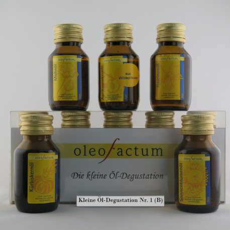 Unsere kleine Öldegustation - Nr. 1